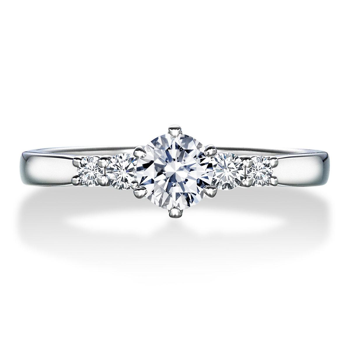 シンプル,ゴージャス 婚約指輪のERA808