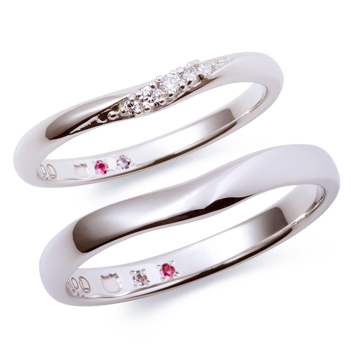 シンプル 結婚指輪のKT-7061117022-7061117032