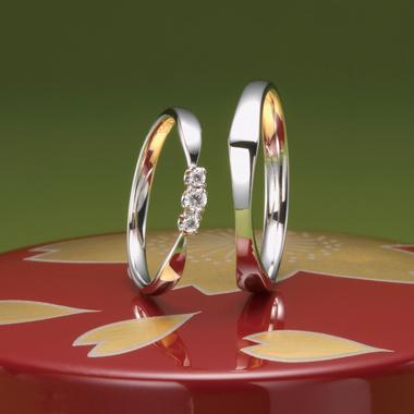 個性的 結婚指輪の風きらり