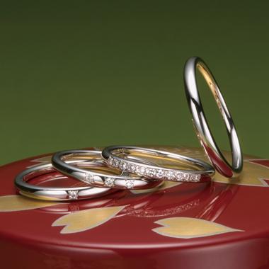 個性的 結婚指輪の十二単1