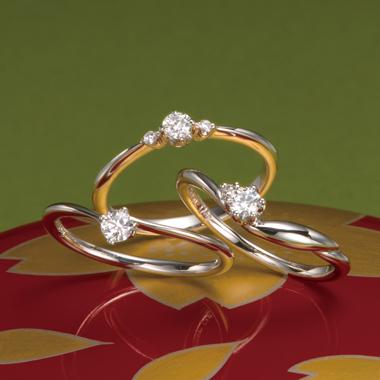 個性的 婚約指輪のこひな・こなつ・こゆき・こはる