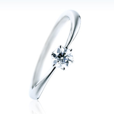 シンプル 婚約指輪のメイクハート