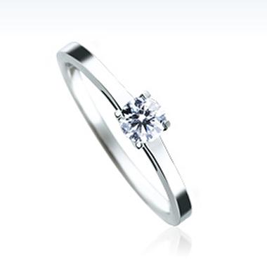 シンプル 婚約指輪のSBE002