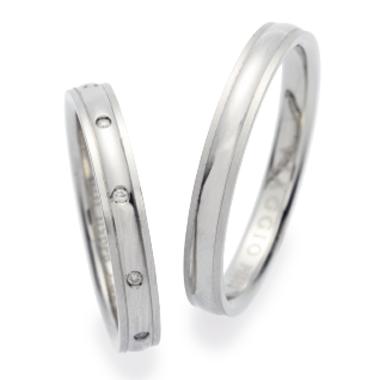 シンプル 結婚指輪のVA00302H/VA00400H