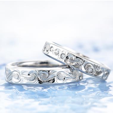 ハワイアン 結婚指輪のウェーブ