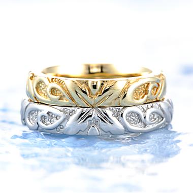 ハワイアン 結婚指輪のバニラ