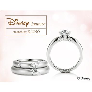 シンプル,フェミニン,個性的 婚約指輪のミッキー&ミニー