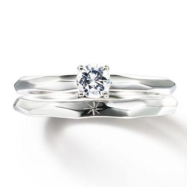 フェミニン 婚約指輪の光