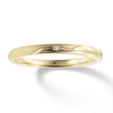 シンプル 結婚指輪のオーロラ