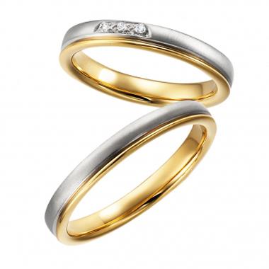 個性的 結婚指輪のcombination
