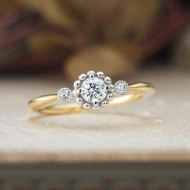 ゴージャス,アンティーク 婚約指輪のルフテル