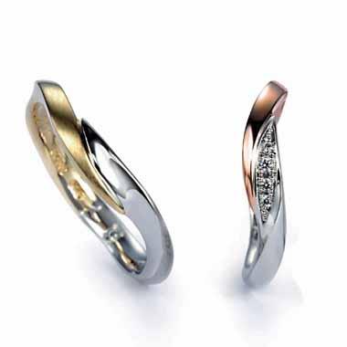 ゴージャス 結婚指輪のマリーゴールド