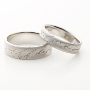 シンプル 結婚指輪のLETTER