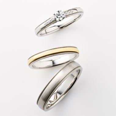 シンプル 結婚指輪のVIA