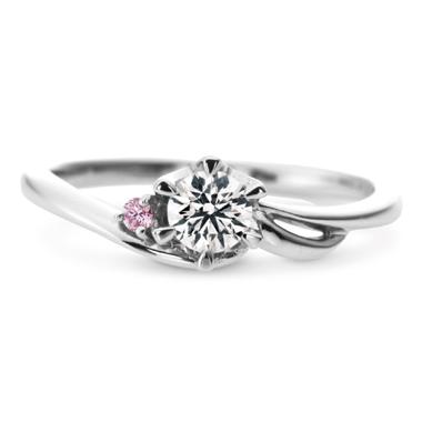 フェミニン,ゴージャス 婚約指輪のウィンド