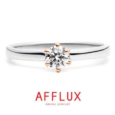 フェミニン,ゴージャス 婚約指輪のハニー ER1