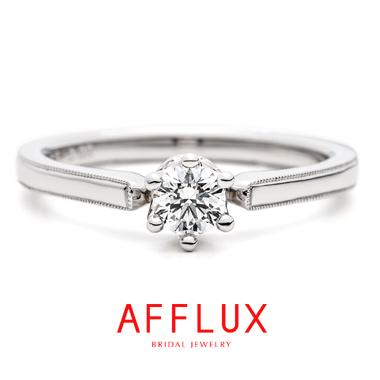 シンプル,ゴージャス 婚約指輪のシャンティER