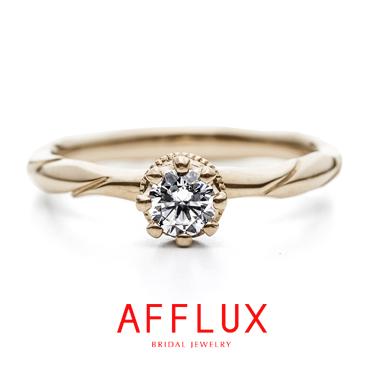 フェミニン,ゴージャス,アンティーク 婚約指輪のRRローレルER