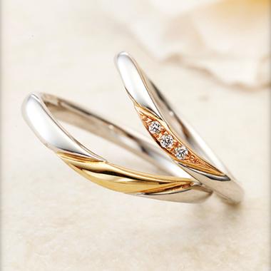 結婚指輪のBonheur