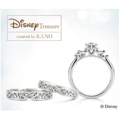 フェミニン 婚約指輪のミッキー・アラベスク