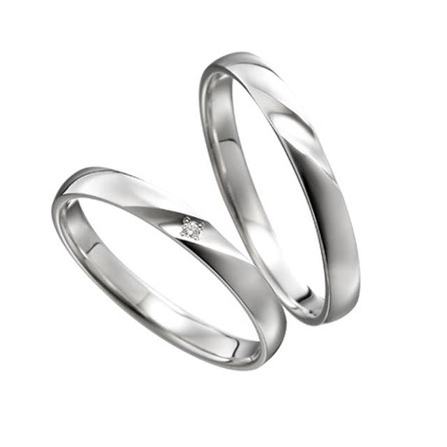 シンプル 結婚指輪のミント
