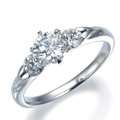 シンプル,フェミニン 婚約指輪の10EN08