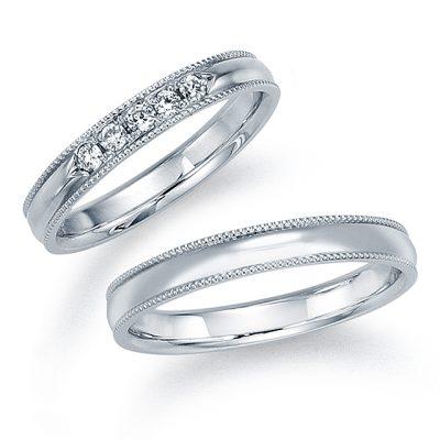 シンプル 結婚指輪の12WR17/12WR18