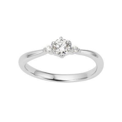 シンプル 婚約指輪のTRILOGIA