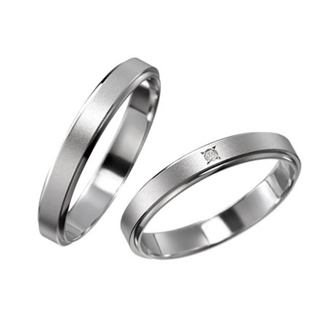 シンプル 結婚指輪のメリッサ