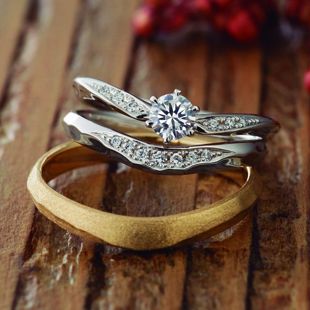 シンプル,フェミニン 結婚指輪のOlive