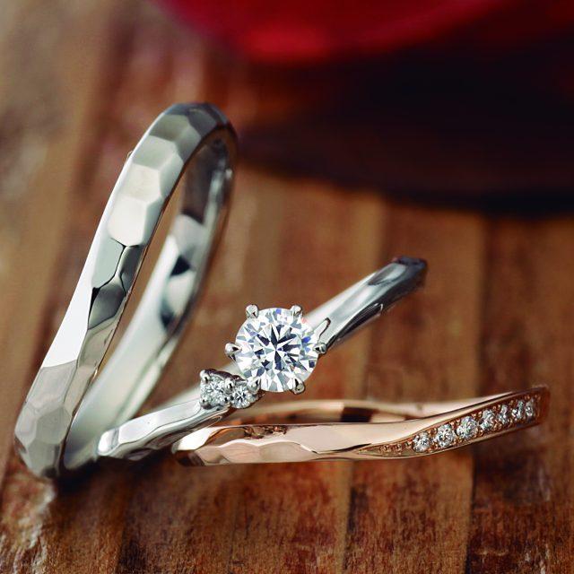 フェミニン,アンティーク 結婚指輪のPieris