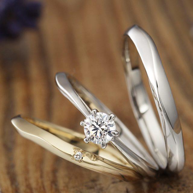 フェミニン,アンティーク 結婚指輪のHAMAMIZUKI
