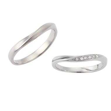 フェミニン 結婚指輪のLU00035/LU00040