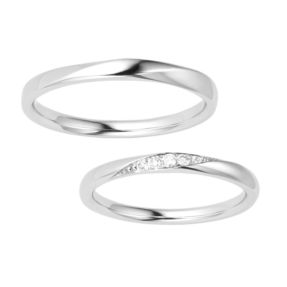 シンプル,フェミニン 結婚指輪のMORBIDO