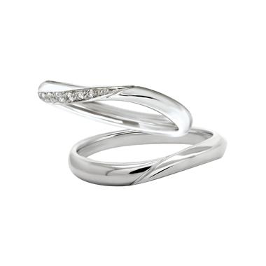 シンプル,フェミニン 結婚指輪のビーナス