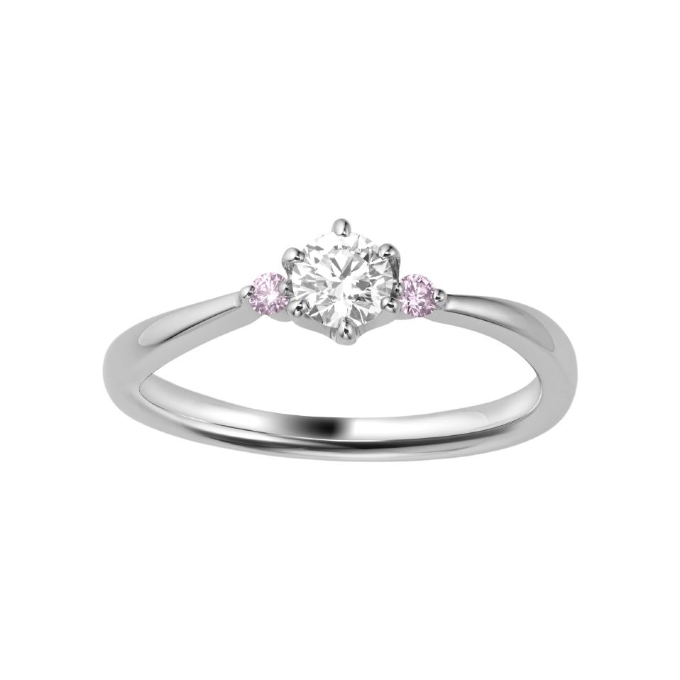 シンプル,フェミニン 婚約指輪のROSA