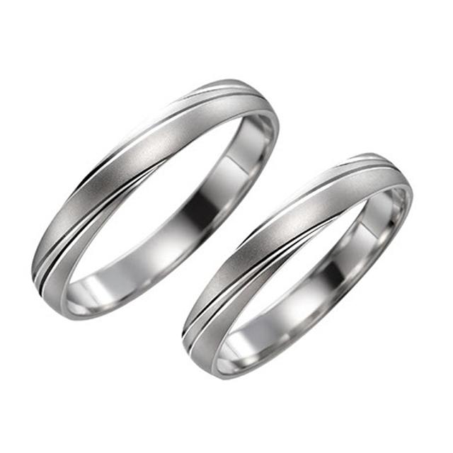 シンプル 結婚指輪のチャイブ