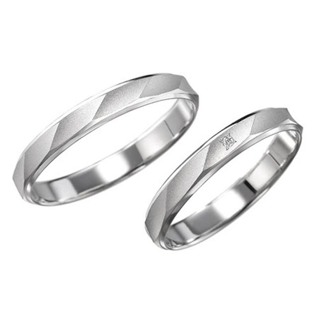 シンプル 結婚指輪のカルダモン