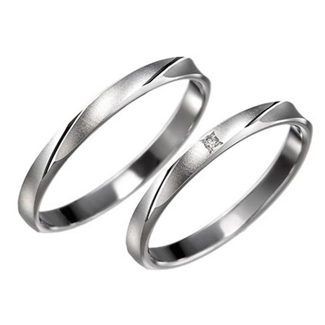 シンプル 結婚指輪のアニス