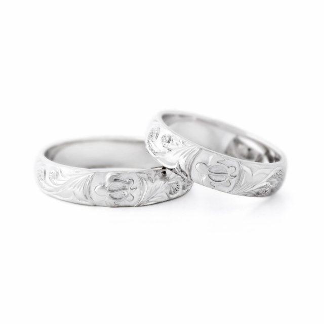 ハワイアン 結婚指輪のHONU:海亀