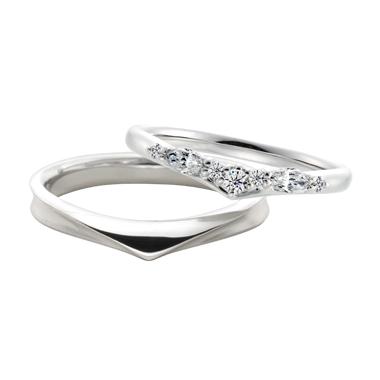 シンプル 結婚指輪のロン・ボヌール