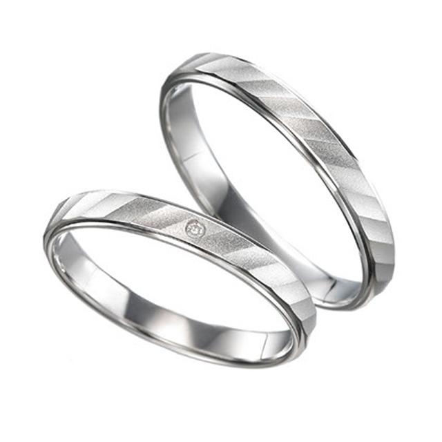 シンプル 結婚指輪のラベンダー