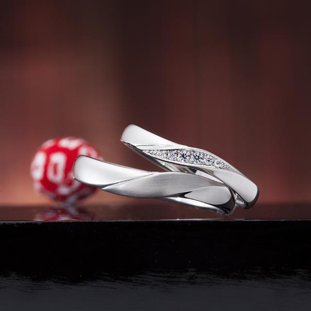 シンプル 結婚指輪の運命の紡ぎ