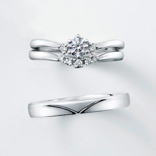 フェミニン 婚約指輪のMUGUET