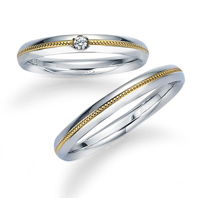 シンプル 結婚指輪の12WR19/12WR20