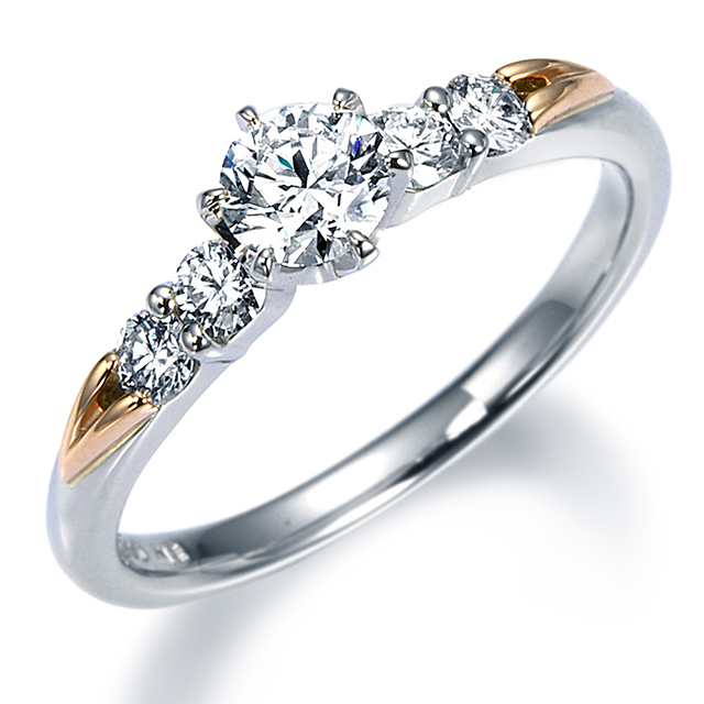 シンプル 婚約指輪の14EN24