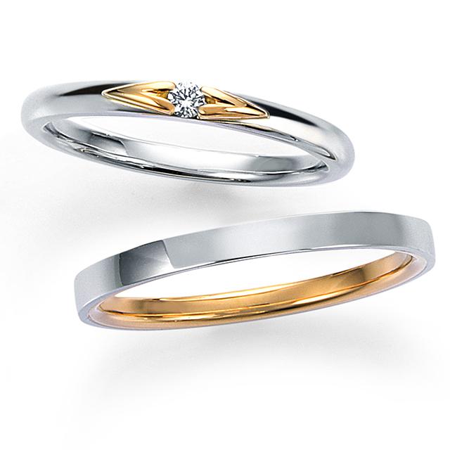 シンプル 結婚指輪の14WR25/14WR26