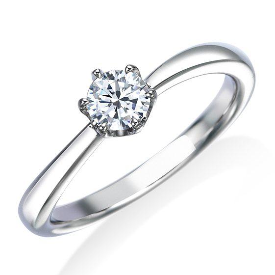 シンプル 婚約指輪の17EN37