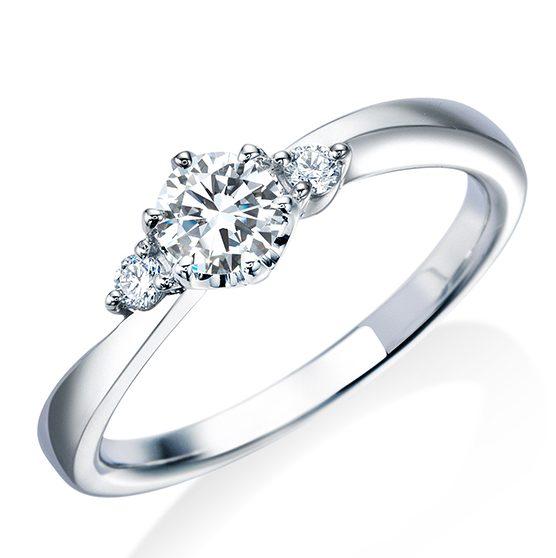 シンプル 婚約指輪の17EN38