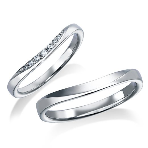 シンプル 結婚指輪の17WR36/17WR37